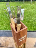 Personalised Wooden BBQ Bits Holder